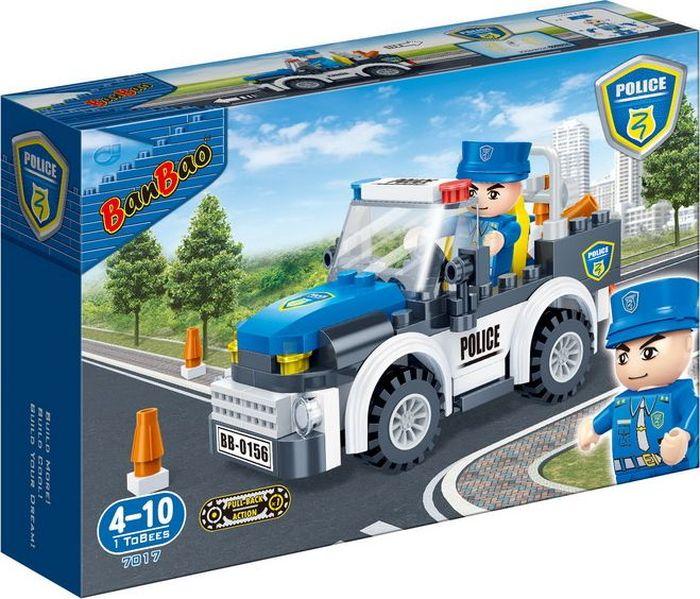 BanBao Пластиковый конструктор Полицейская машина 100 деталей banbao конструктор джип 37 деталей
