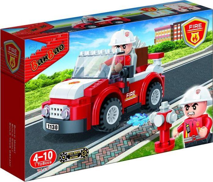BanBao Пластиковый конструктор Пожарный внедорожник 110 деталей banbao конструктор джип 37 деталей