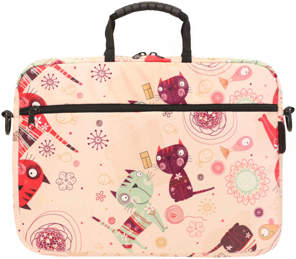 "Vivacase Kitten, Beige сумка для ноутбука 15,6"""