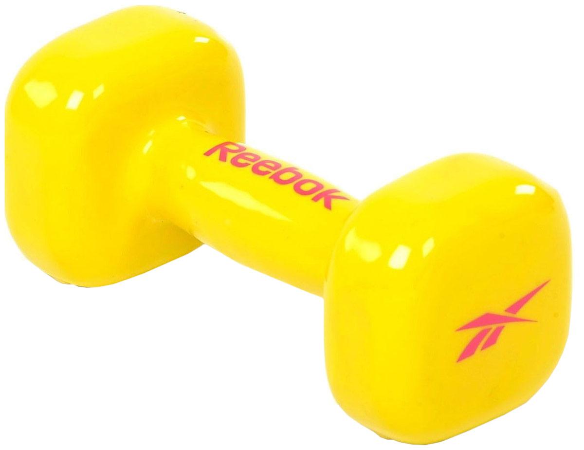 Гантель Reebok Dumbbell Yellow, цвет: желтый, 3 кг цена