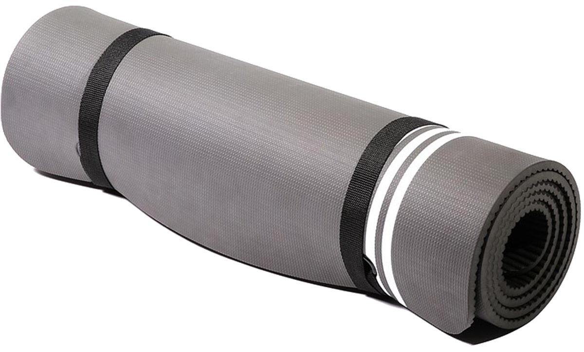 """Тренировочный коврик для фитнеса Adidas """"Elite"""", цвет: темно-серый"""