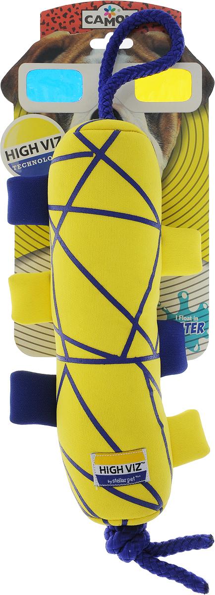 Игрушка для собак Camon High VIZ. Апорт, с пищалкой, цвет в ассортименте, длина 23 см игрушка для собак camon рыбка с пищалкой цвет белый красный 10 х 6 х 6 3 см