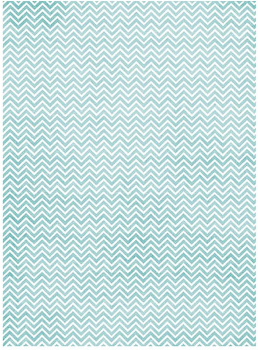 Рисовая бумага для декупажа Craft Premier Голубой зиг-заг, A3 рисовая бумага для декупажа craft premier ирисы на рассвете a3
