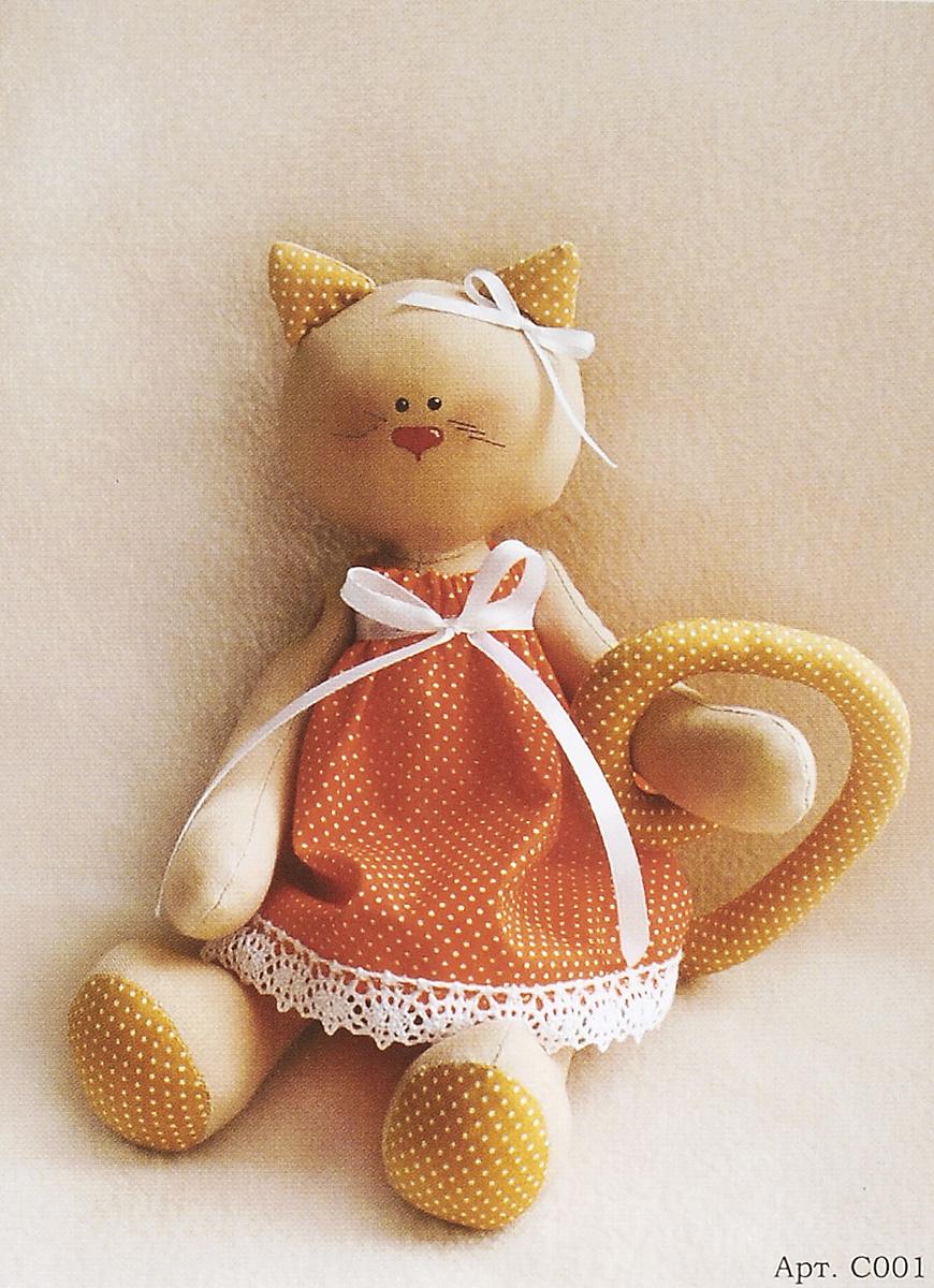 Набор для изготовления игрушки Ваниль Cat's Story, высота 27 см. C001 набор для изготовления текстильной игрушки bear s story высота 23 см 544503