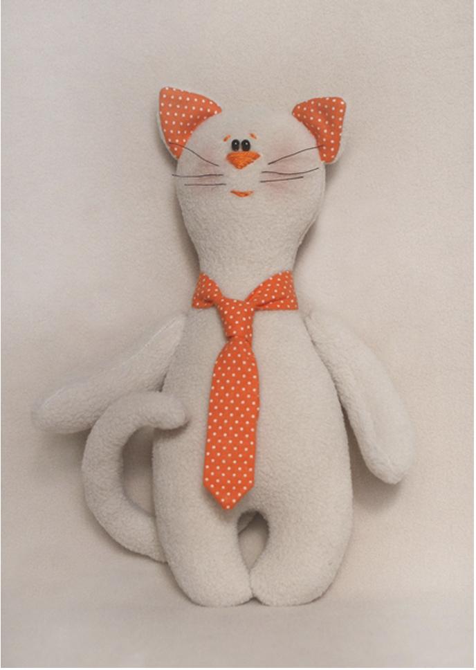 Набор для изготовления игрушки Ваниль Cat's Story. Котик в галстуке, высота 21 см набор для изготовления текстильной игрушки bear s story высота 23 см 544503