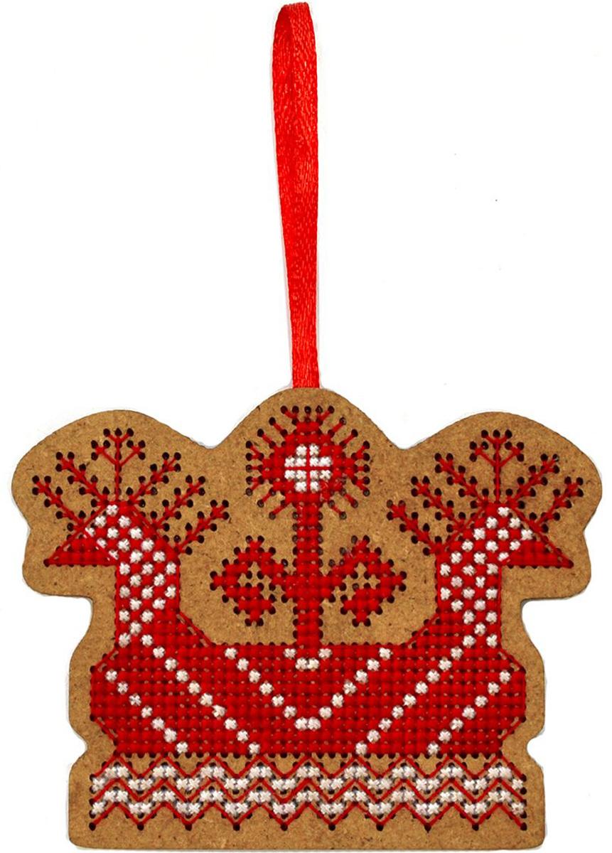 Набор для вышивания крестом Созвездие Солнечная ладья, 6 х 8 см набор для вышивания крестом созвездие добрая дорога подорожница 9 х 4 5 см