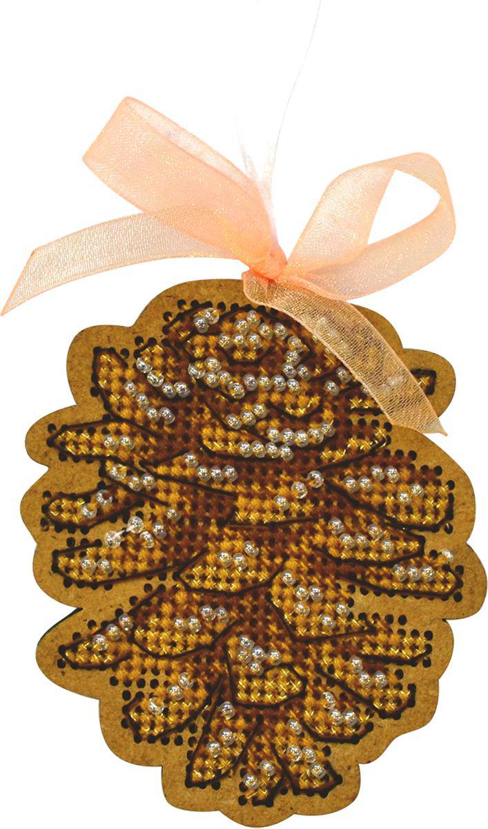Набор для вышивания крестом Созвездие Новогодняя игрушка. Сосновая шишка, 6 х 7,5 см набор для вышивания бисером созвездие новогодняя игрушка сапожок 9 х 6 см