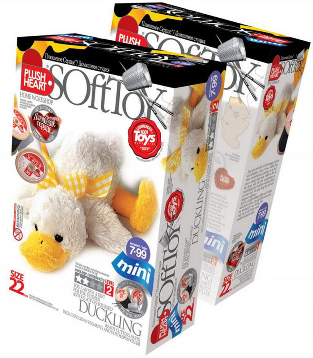 Набор для создания мягкой игрушки Утенок игрушки каталки лена утенок 65620