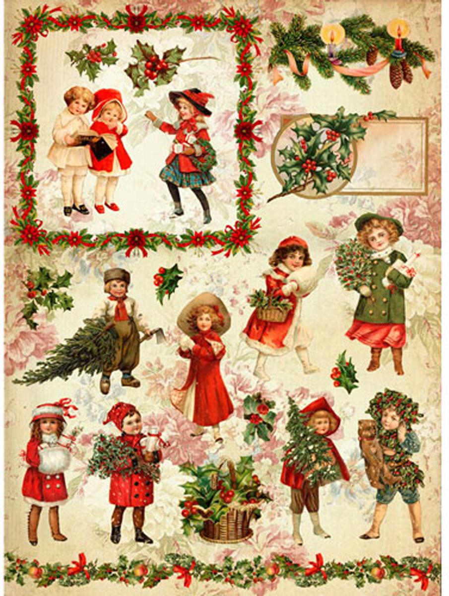Рисовая бумага для декупажа Craft Premier, A3, 25г/м, Рождественская прогулка рисовая бумага для декупажа craft premier шебби розы a3