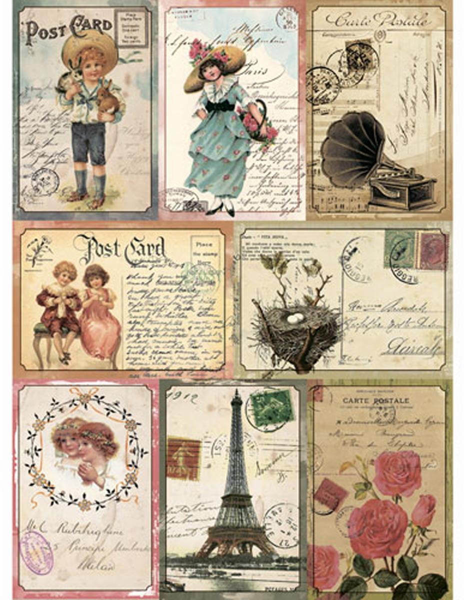 Рисовая бумага для декупажа Craft Premier Винтажные открытки, 28 см х 38 см рисовая бумага для декупажа craft premier шебби розы a3