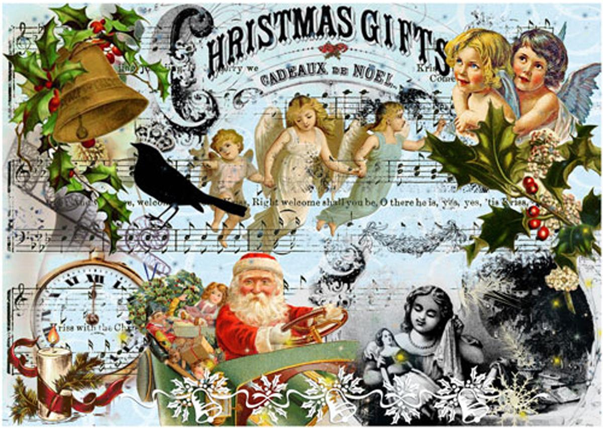 Рисовая бумага для декупажа Craft Premier Рождество-242, 28 х 38 см рисовая бумага для декупажа craft premier шебби розы a3