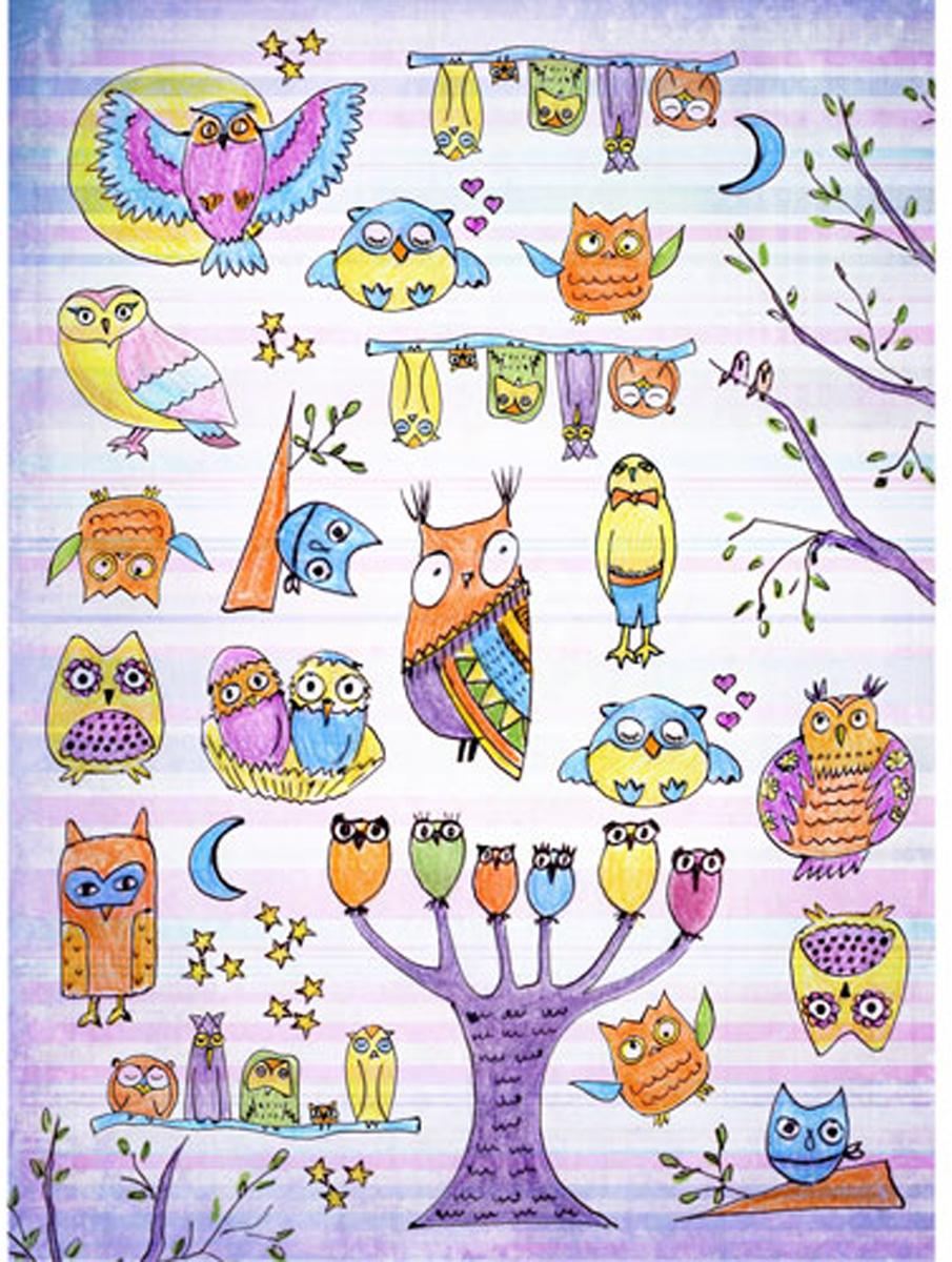 """Бумага для декупажа Craft Premier """"Веселые совы"""", 29,5 см х 39,5 см"""