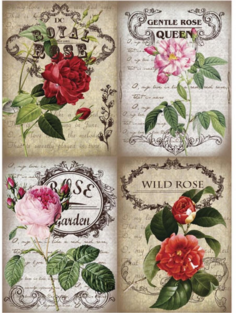 Рисовая бумага для декупажа Craft Premier Королевские розы, 28 х 38 см рисовая бумага для декупажа craft premier шебби розы a3