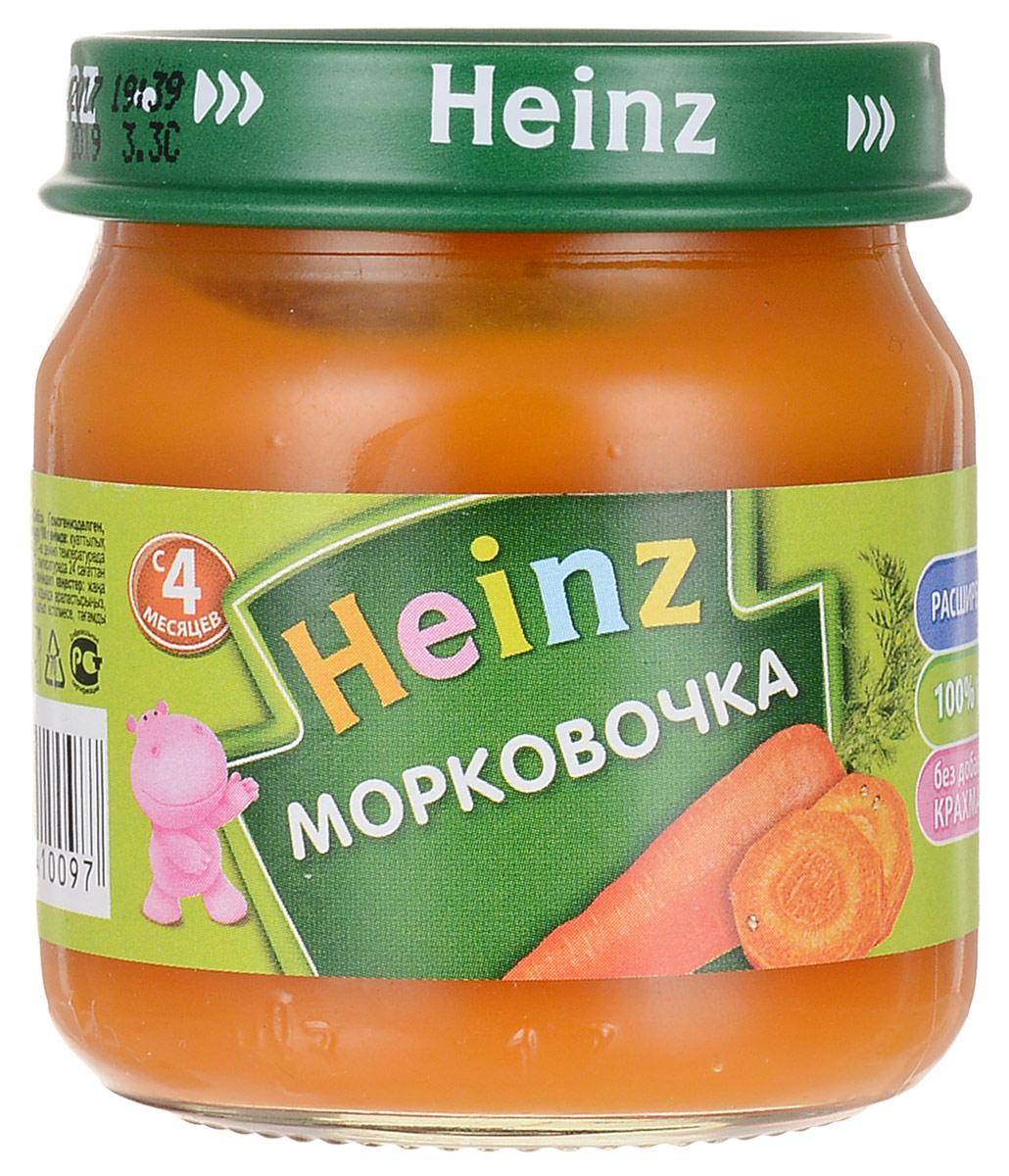 Heinz пюре морковочка, с 4 месяцев, 80 г