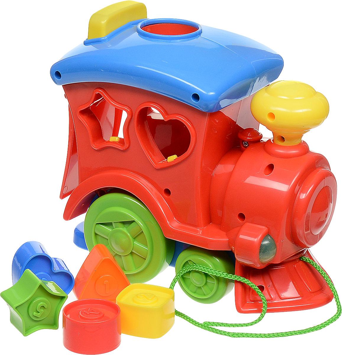 Keenway Каталка-сортер Поезд с кубиками цвет красный