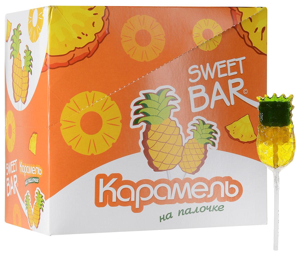 Конфитрейд Sweet Bar Ананас карамель на палочке, 15 шт по 40 г цена