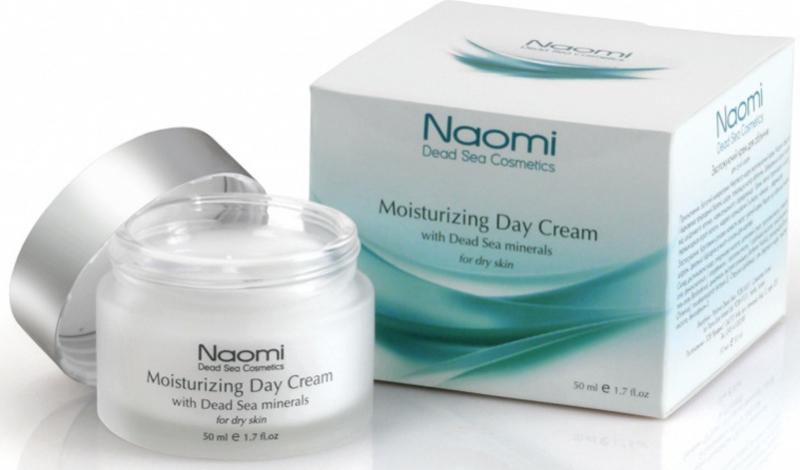 Naomi Крем для лица увлажняющий с минералами Мертвого моря, дневной, для сухой кожи, 50 мл