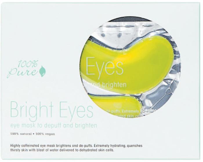 100% Pure Набор восстанавливающих масок для глаз: Сияние, 5 шт x 8 г