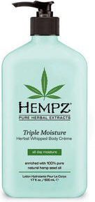 Hempz Молочко для тела Тройное увлажнение Herbal Body Triple Moisture 500 мл hempz triple moisture herbal whipped creme body scrub скраб для тела тройное увлажнение 176 гр