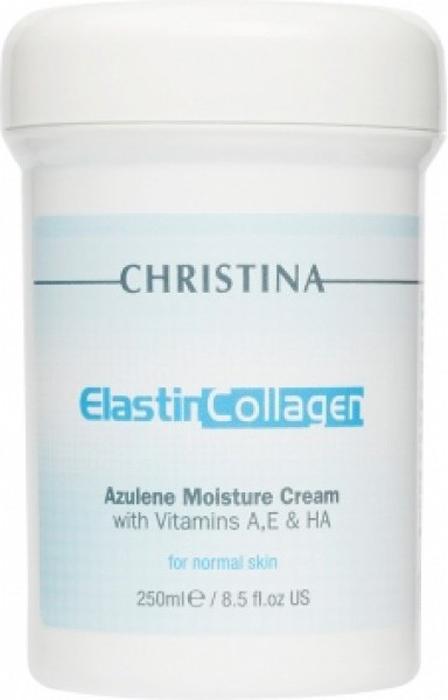 Christina Увлажняющий азуленовый крем с коллагеном и эластином для нормальной кожи Elastin Collagen Azulene Moisture Cream with Vit A, E and HA 250 мл christina collagen elastin