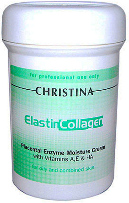 Christina Увлажняющий крем с плацентой, энзимами, коллагеном и эластином Elastin Collagen Placental Enzyme Moisture Cream with Vit A, E and HA 250 мл christina collagen elastin
