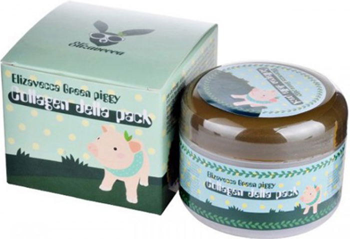 Elizavecca Высококонцентрированная коллагеновая маска Green Piggy Collagen Jella Pack, 100 мл Уцененный товар (№3) green piggy collagen