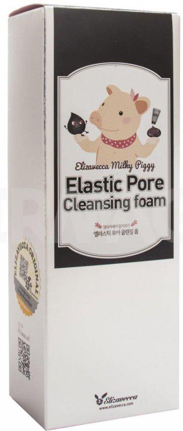 Elizavecca Пенка для умывания с порошком древесного угля Milky Piggy Elastic Pore Cleansing Foam, 120 мл