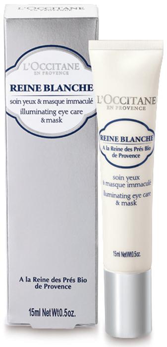 L'Occitane Сияющий крем-маска для кожи вокруг глаз Белая Королева 15 мл