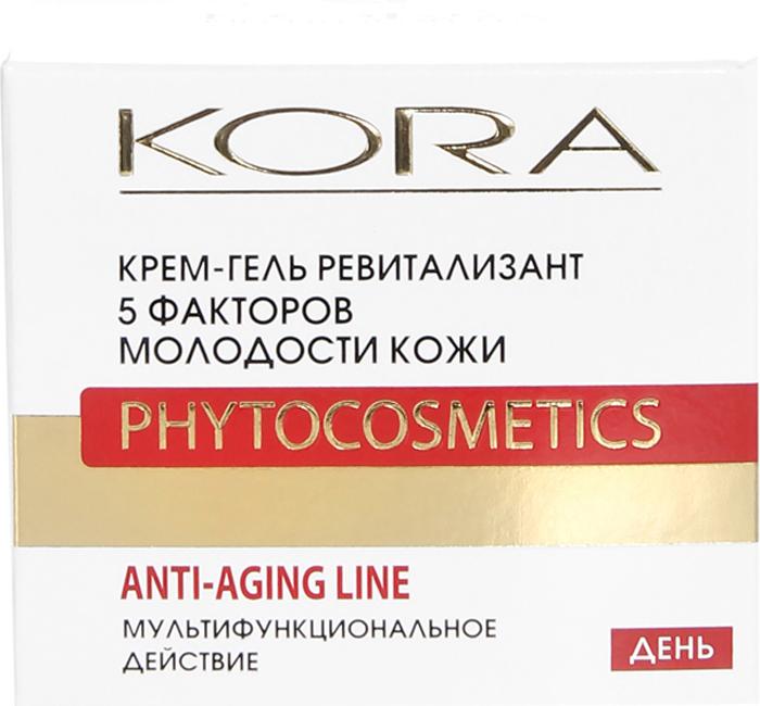 KORAКрем-гель ревитализант, 5 факторов молодости кожи, 50 мл KORA