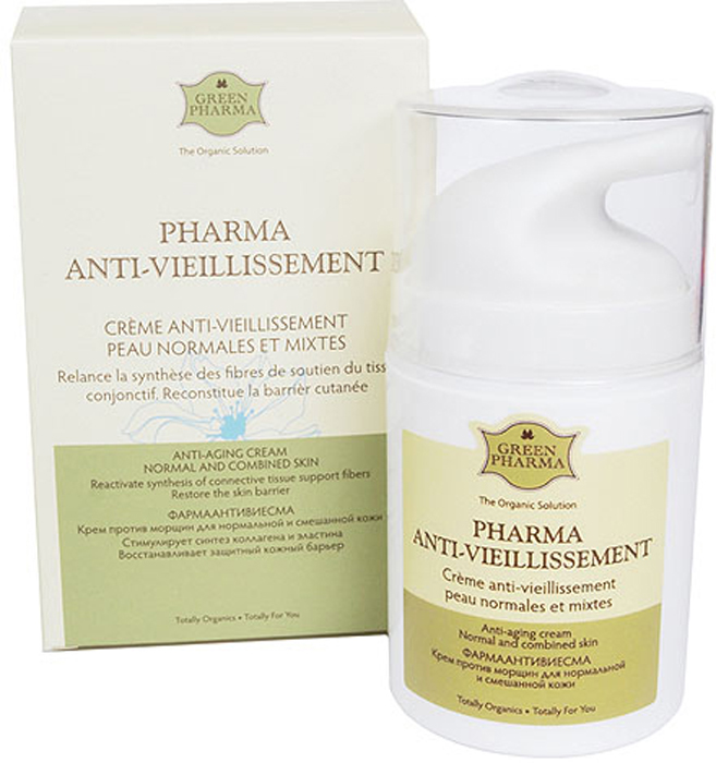 Крем для ухода за кожей Green Pharma Фармаантивиесма Крем против морщин, для нормальной и смешанной кожи, 50 мл Green Pharma