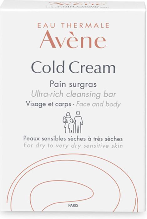 Avene Сверхпитательное мыло Cold-cream для лица и тела 100 г крема для сухой кожи