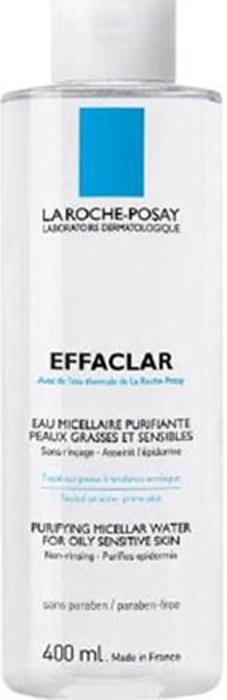La Roche-Posay Мицеллярный очищающий раствор для снятия макияжа Effaclar 400 мл la roche posay очищающий гель крем effaclar h 200 мл