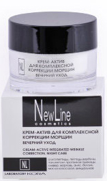 New Line Крем-актив для комплексной коррекции морщин. Вечерний уход,50 мл кремактив для комплексной коррекции морщин вечерний уход 50 мл new line new line крема