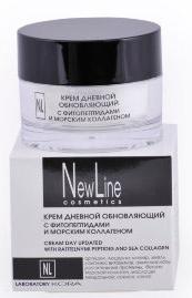 New LineКрем дневной обновляющий с фитопептидами и морским коллагеном, 50 мл New Line