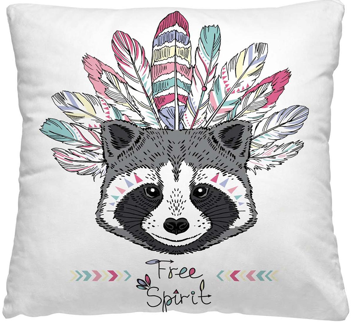 Подушка декоративная Волшебная ночь Енот, 40 х 40 см подушка декоративная волшебная ночь колибри 40х40 см