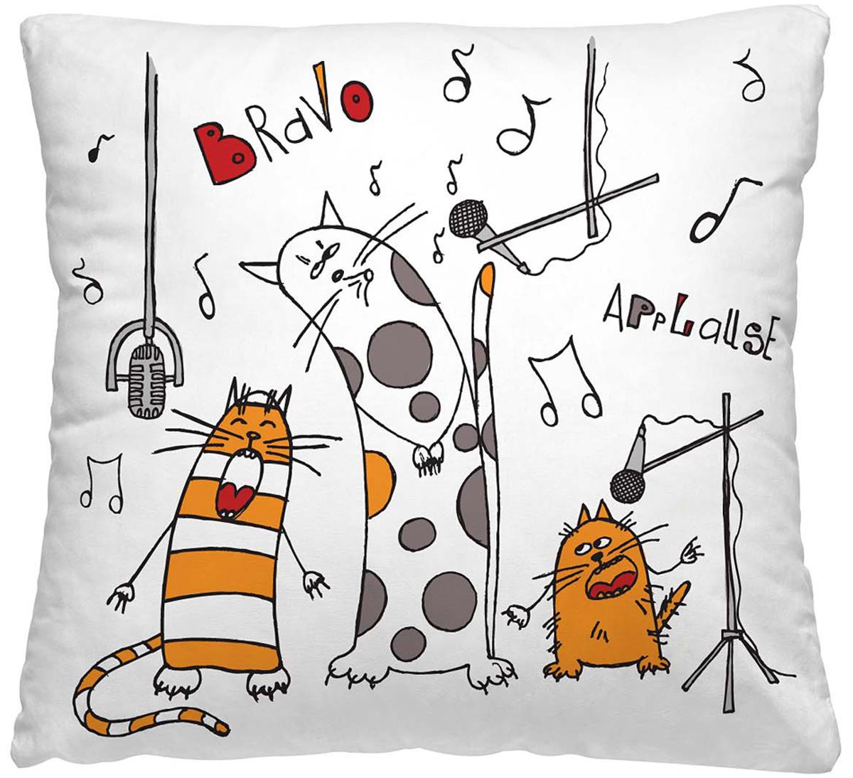 Подушка декоративная Волшебная ночь Веселые коты, 40 х 40 см подушка декоративная волшебная ночь колибри 40х40 см