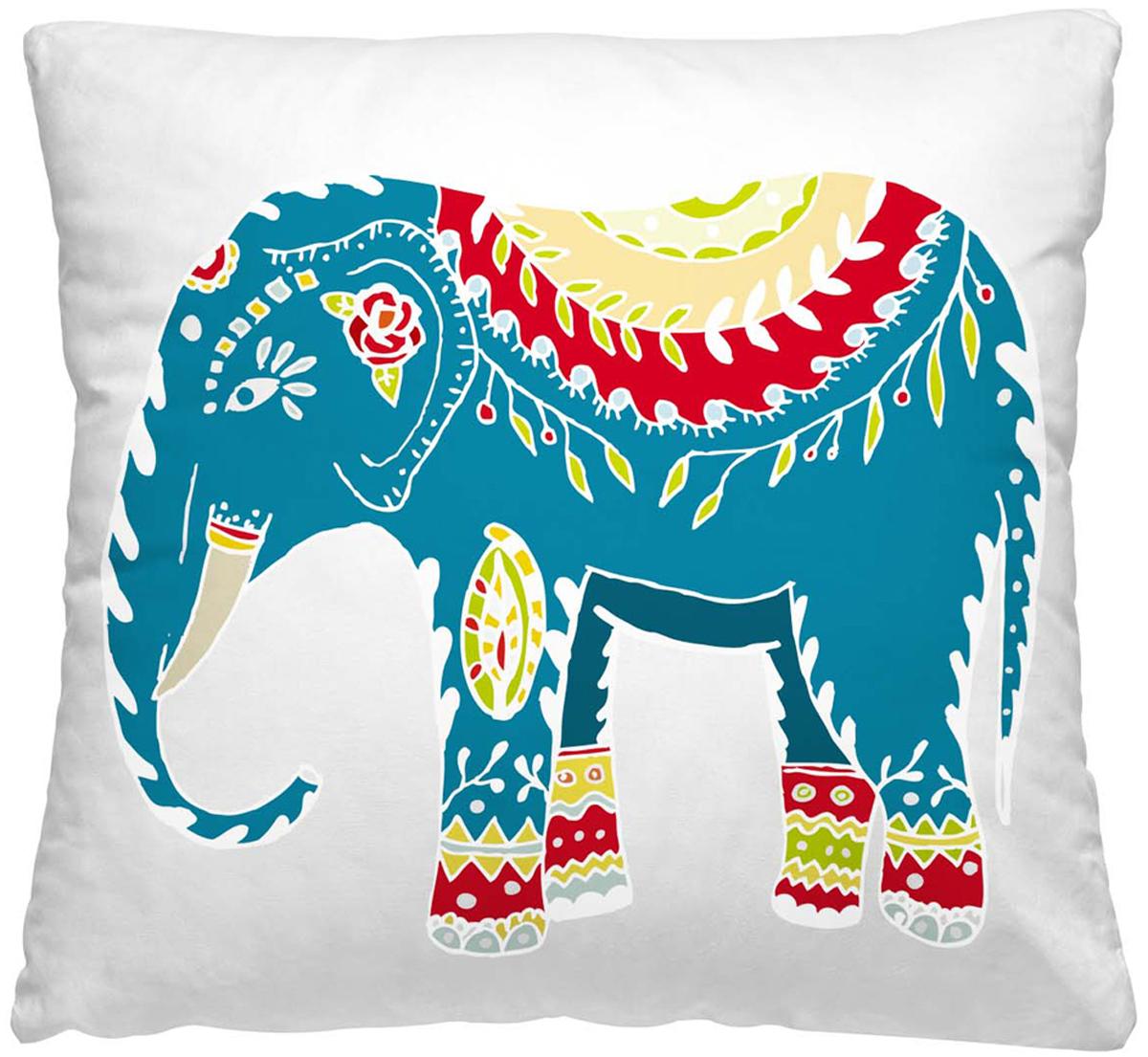 Подушка декоративная Волшебная ночь Индийский слон, 40 х 40 см подушка декоративная волшебная ночь цветочный заяц 40х40 см