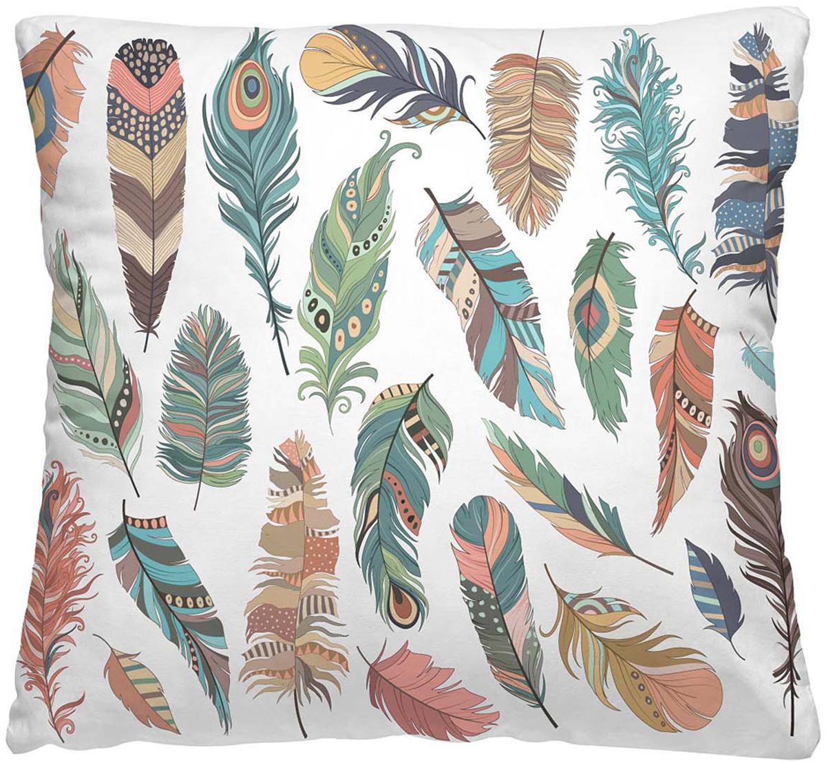 Подушка декоративная Волшебная ночь Перышки, 40 х 40 см подушка декоративная волшебная ночь колибри 40х40 см