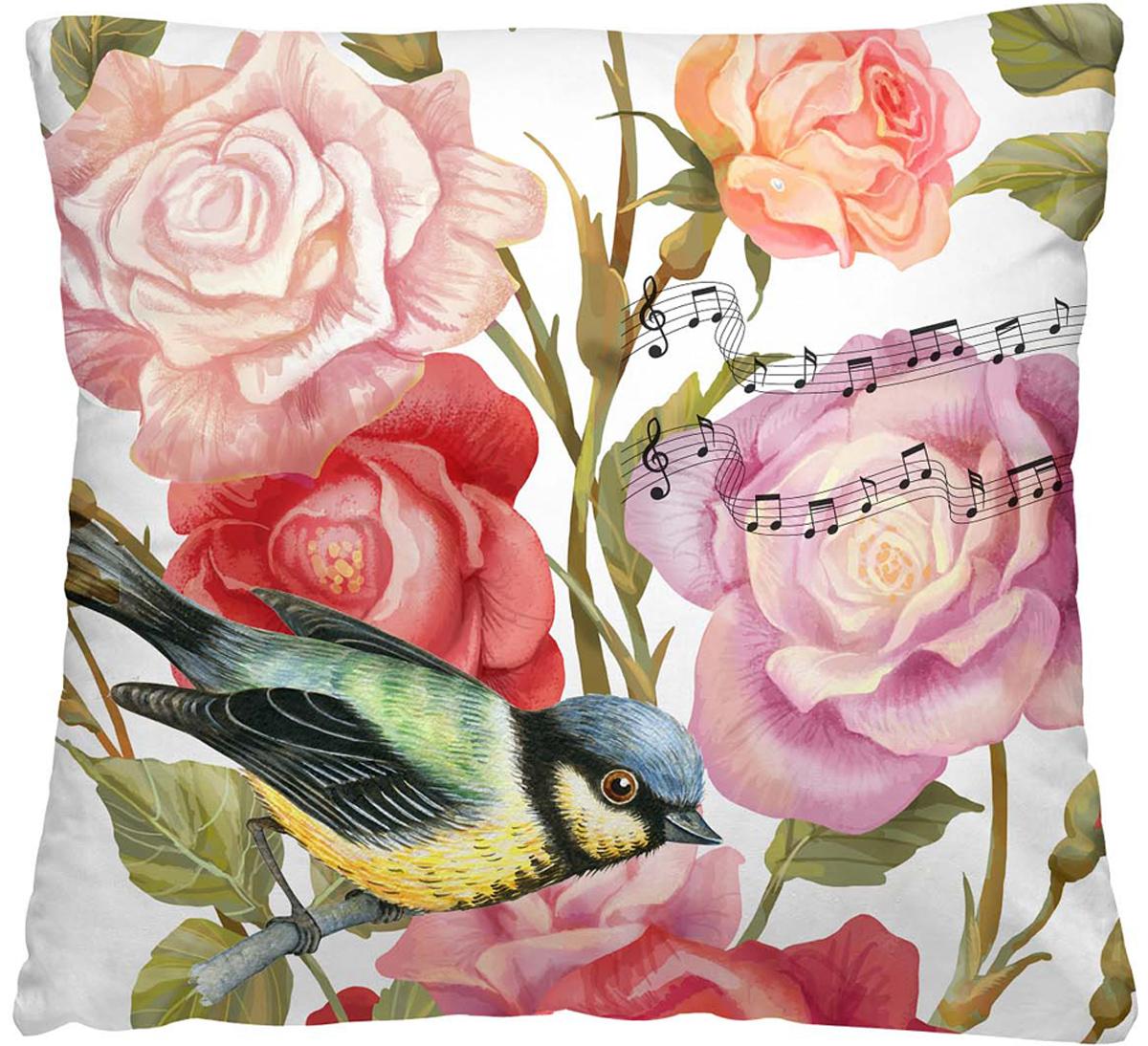 Подушка декоративная Волшебная ночь Птица дивная, 40 х 40 см подушка декоративная волшебная ночь колибри 40х40 см