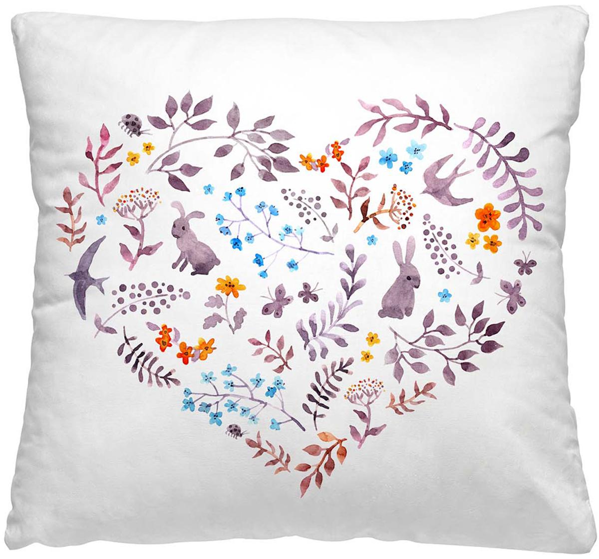 Подушка декоративная Волшебная ночь Сердце, 40 х 40 см подушка декоративная волшебная ночь колибри 40х40 см