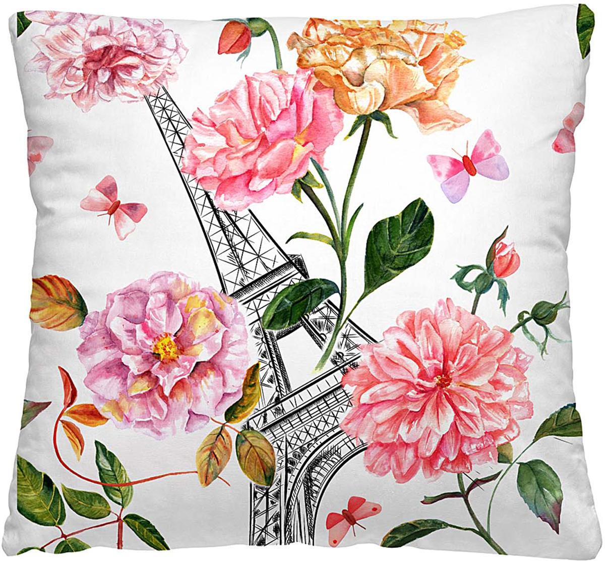 Подушка декоративная Волшебная ночь Эйфелева башня, 40 х 40 см подушка декоративная волшебная ночь колибри 40х40 см