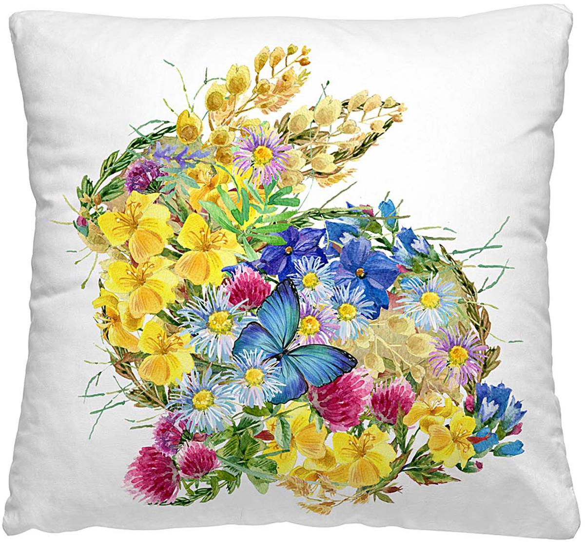 Подушка декоративная Волшебная ночь Цветочный заяц, 40 х 40 см подушка декоративная волшебная ночь цветочный заяц 40х40 см