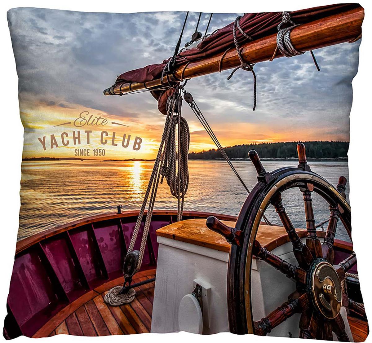 Подушка декоративная Волшебная ночь Яхта, 40 х 40 см подушка декоративная волшебная ночь колибри 40х40 см