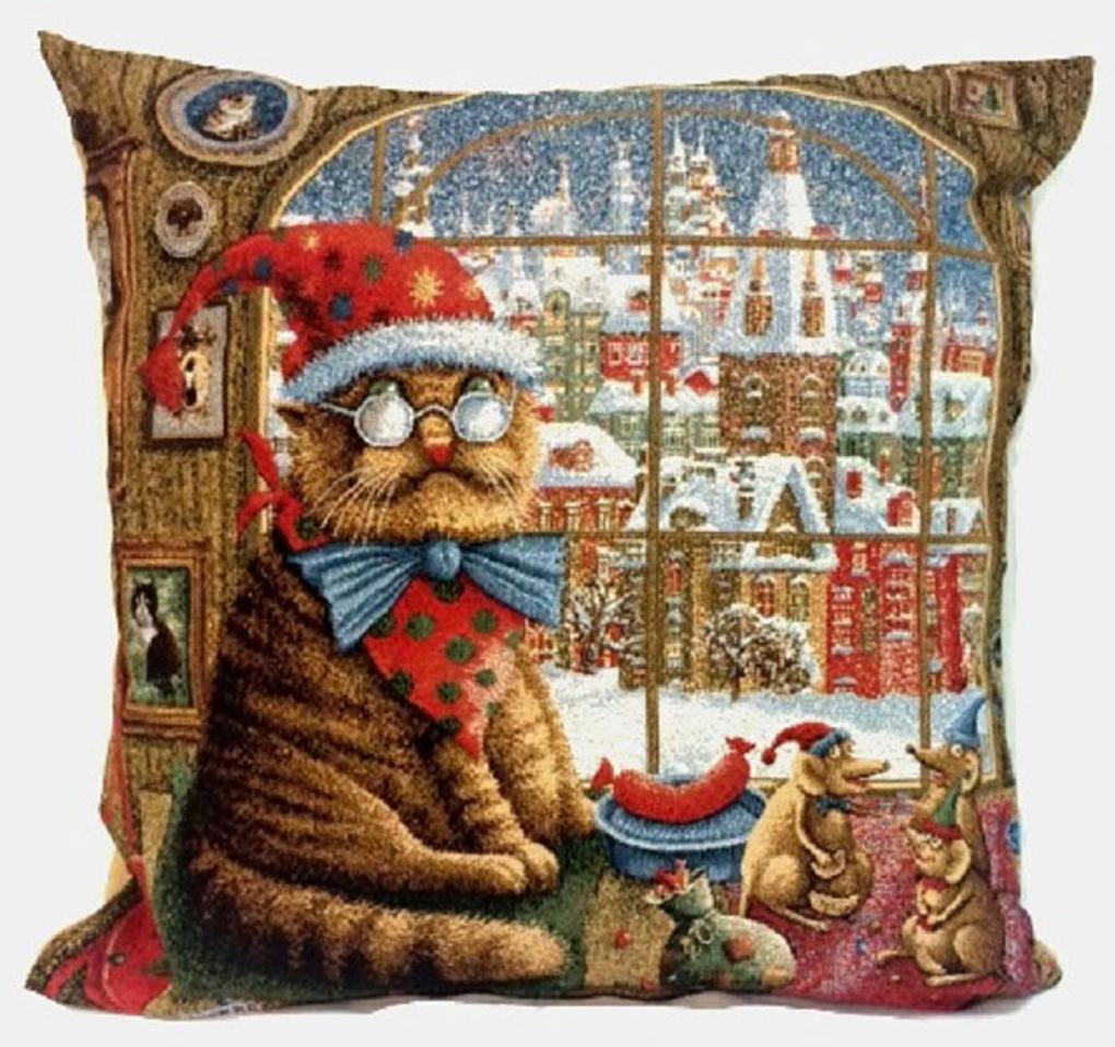 Подушка декоративная Рапира Кот и мыши, 45 х 45 см подушка декоративная рапира игривые котята в корзине 35 х 90 см