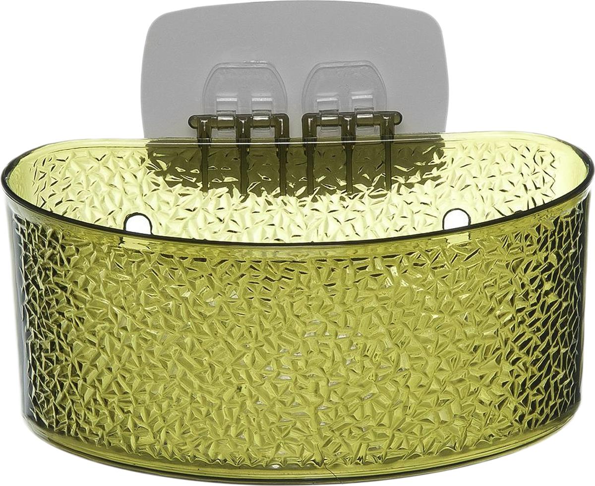 Полка для ванной комнаты Fresh Code, на липкой основе, цвет: зеленый, 19 х 10 х 10 см лампа светодиодная филаментная e14 9w 2800к прозрачная vg10 cw1e14warm9w f 7094
