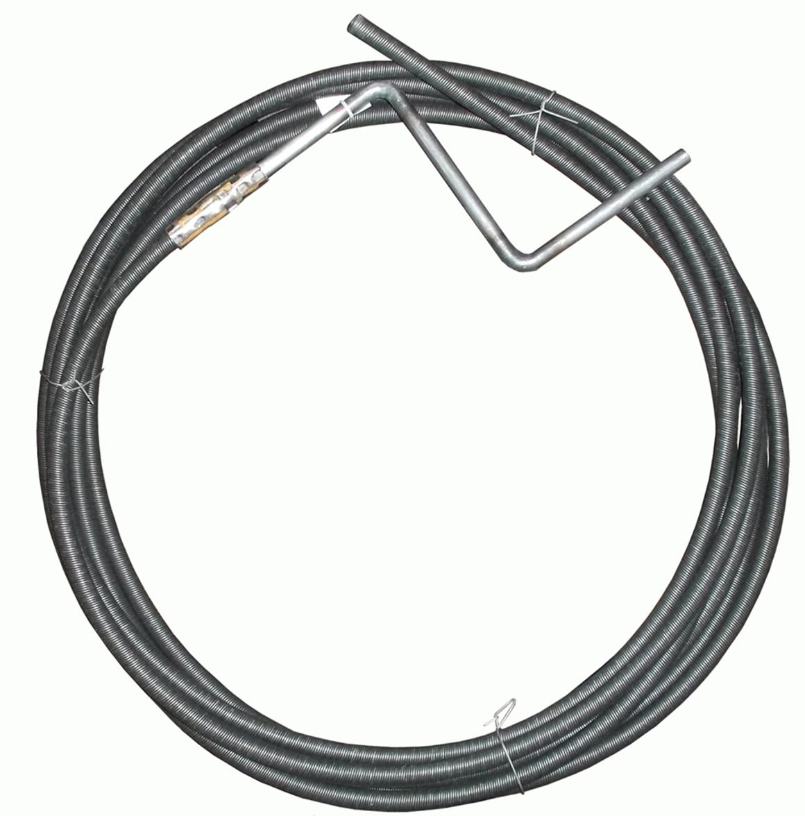 Трос для прочистки канализационных труб МастерПроф, толщина 9 мм, длина 2,5 м трос пружинный для прочистки канализационных труб masterprof 6 мм х 5 м