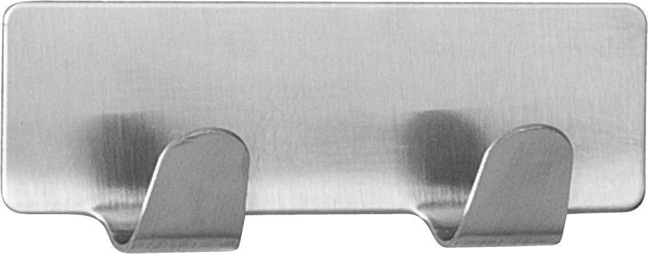 Планка Tatkraft Tva, самоклеющаяся, с двумя крючками, 8 х 2,5 см корзина подвесная tatkraft on двухуровневая 25 х 12 х 47 см