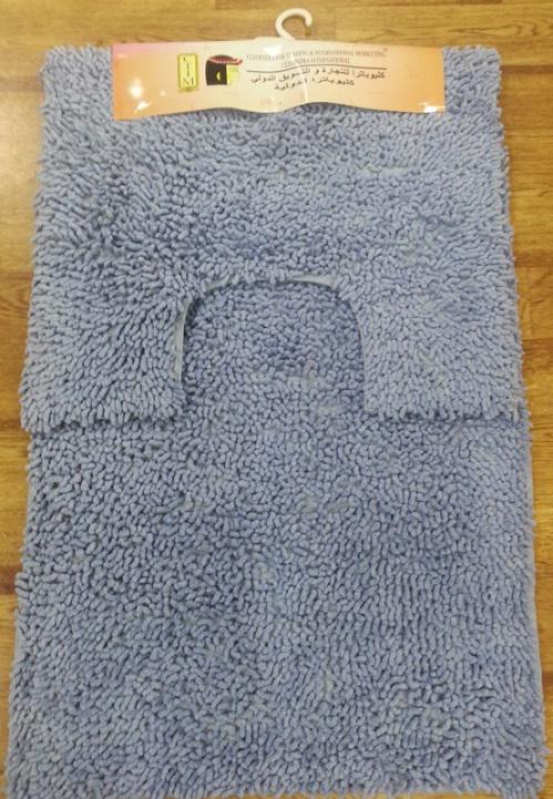 "Набор ковриков для ванной ""Shee Sai International"", цвет: голубой, 60 х 90 см + 60 х 50 см"