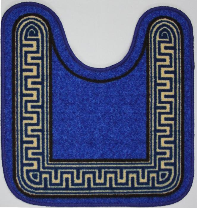 "Коврик для ванной MAC Carpet ""Розетта. Версаче"", цвет: синий, 57 х 60 см"