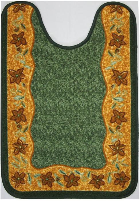 Коврик для ванной MAC Carpet Розетта, цвет: зеленый, 57 х 80 см коврик для ванной mac carpet розетта цвет коричневый розовый 57 х 60 см